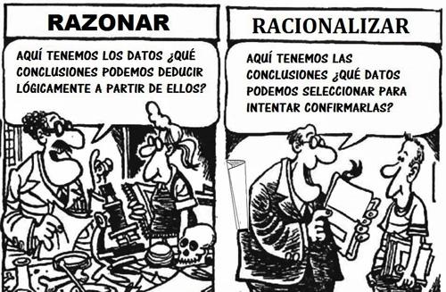 La diferencia entre razonar y racionalizar