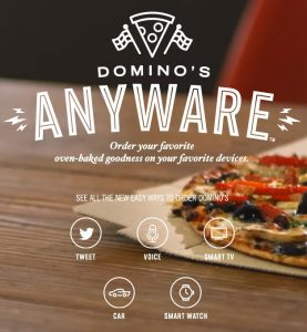 Pedri pizza desde tu smart watch o smart Tv