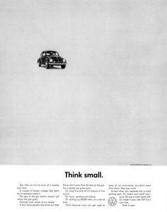 La famosa campaña Think Small de Volkswagen
