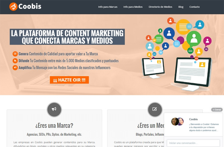 Coobis, plataforma de marketing de contenido con influencers