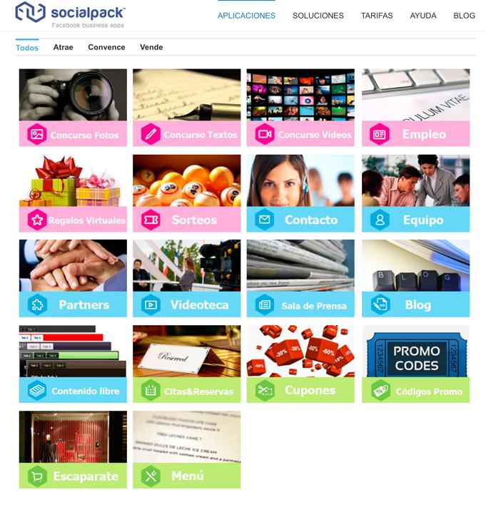 oferta de Apps de Social Pack
