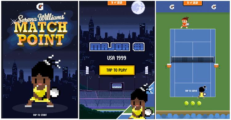 El primer videojuego de Snapchat: Serena Williams y gatorade