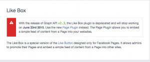 Así avisa Facebook del cambio en el cajón de likes