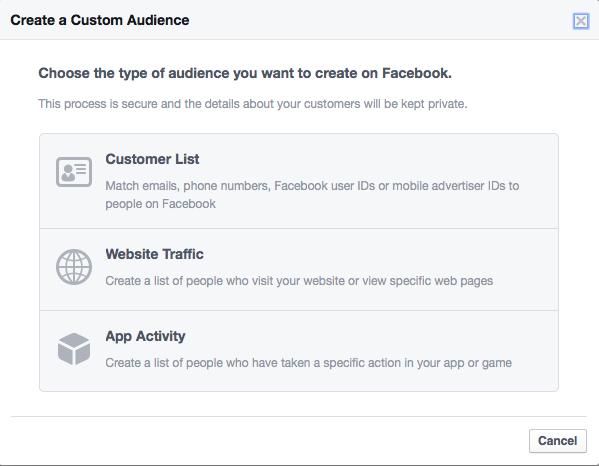 Publicidad en Facebook publico personalizado