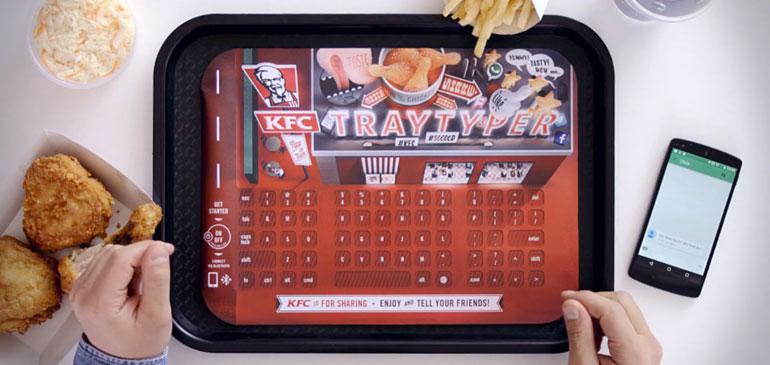 TrayTyper de KFC: Marketing directo interactivo en tu bandeja