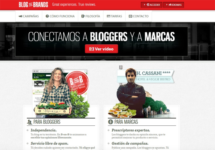 Blog on Brands, plataforma de bloggers y marcas