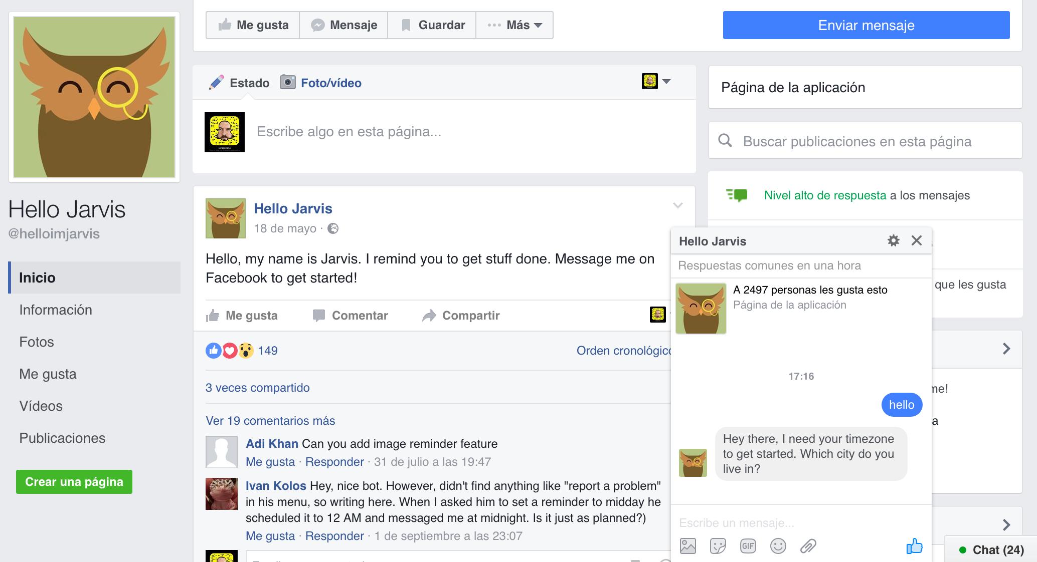 El Chat Bot de Hello Jarvis